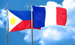 Philippines Flag Philippines Flag With France Flag 3d Rendering Stock Photo