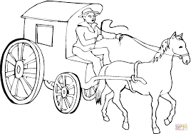 horse drives that cab coloring page free printable coloring pages