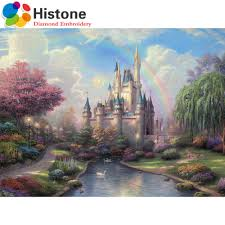 3d diy diamond painting dream castle cartoon diamond embroidery