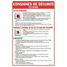 consignes de securite pour cuisine panosur