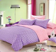 girls purple bedding cheap girly pink and purple dots comforter sets full with low