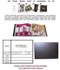 5x7 Photo Book Unibind Black Leatherette