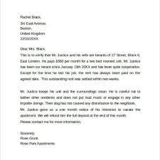 Tenant Reference Letter Sample Proper Sample Of Resume U2013 Letter Format Writing