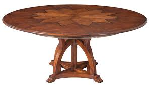 Expandable Round Dining Room Tables Solid Walnut Round Arts And Crafts Expandable Dining Room Table