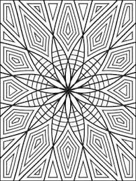 geometric coloring designs coloring pages kids
