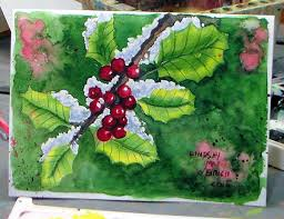 christmas cards in watercolor let s paint watercolor christmas card idea the