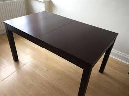 ikea black brown dining table bjursta table nice extending dining table used extendable table in