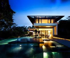 villa amusing backyard design of dalvey road house with big blue