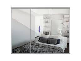 Home Decor Innovations Sliding Mirror Doors Sliding Wardrobe Door Kit W2692mm Silver Frame Mirror Homeware