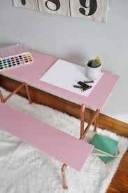 Diy Pipe Desk by Copper Pipe Child U0027s Desk Diy U2013 A Beautiful Mess
