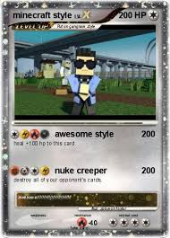 minecraft cards pokémon minecraft style 14 14 awesome style my card