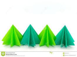 paper craft christmas tree stock photo image 63031324