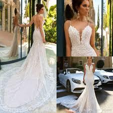 2017 pallas couture vintage lace mermaid wedding dress deep v neck