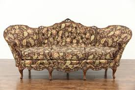 Antique Couches Sold Carved 1940 U0027s Vintage Sofa Pierced Swag U0026 Rose Motifs New