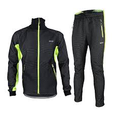 windproof cycling jackets mens winter fleece cycling sets windproof bicycle thermal jacket men s