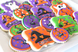 Decorated Halloween Sugar Cookies by Halloween Ghost Witch And Spider Cookies