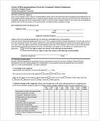 8 letters of recommendation for graduate u2013 free sample