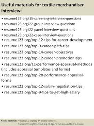 Merchandiser Job Description For Resume by Top 8 Textile Merchandiser Resume Samples