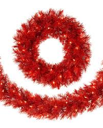lipstick wreath and garland treetopia