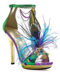 Peacock High Heels Mardigras Gold Green U0026 Purple Open Toe High Heel Pump Mardi Gras