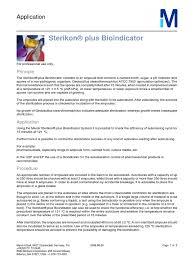 aplicacion sterikon plus bioindicator merck sterilization