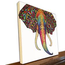Animal Home Decor by Animal Canvas Art Elephant Wall Art Home Decor Tribal Blog Stodiefor