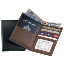Texas mens travel wallet images Leather rfid passport currency wallet at brookstone buy now jpg