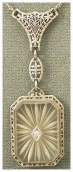 art glass necklace pendant images Camphor glass diamonds in the library jpg