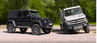 alien vs predator mercedes benz g 500 4x4 and unimog u5030 play