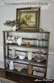 Diy Restoration Hardware Reclaimed Wood Shelf by Best 25 Rolling Shelves Ideas On Pinterest Rolling Shopping
