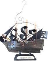 savings on pirate ship ahoy matey resin ornament