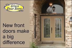 Exterior Glass Door Inserts Beveled Traditional Glass Door