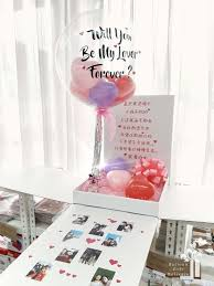 balloons with gifts inside open me beauty balloon
