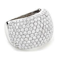 womens diamond rings gold designer pave diamond ring 5 ct