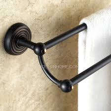 Black Bathroom Towel Bar Oil Rubbed Bronze Black Double Towel Bars For Bathroom