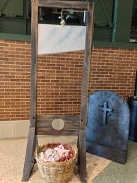 guillotine with head in basket 1160 props unlimited events llc
