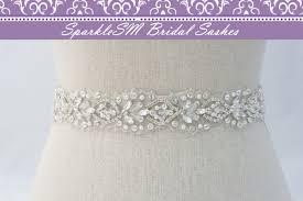 rhinestone bridal sash ivory bridal sash bridal belt bridal