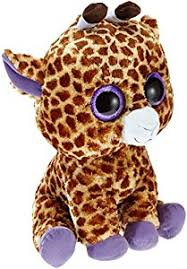 amazon ty beanie boos safari large giraffe toys u0026 games