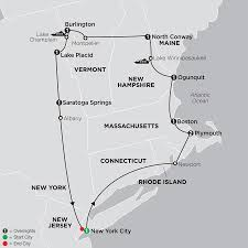 Map From New York To Boston by United States Travel Packages Cosmos Eastern Us Tours
