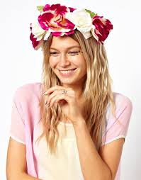 festival flower headbands flower power glam meets girl