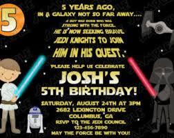 star wars scroll birthday party printable invitations uprint