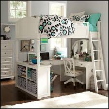 bedroom full size loft bed with desk and vanity full size loft