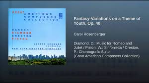 themes of youth in romeo and juliet fantasy variations on a theme of youth op 40 youtube