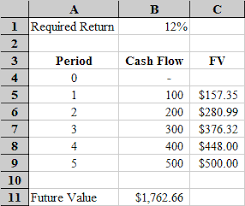 microsoft excel time value function tutorial uneven cash flows