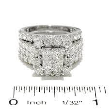 princess cut engagement rings zales 4 ct t w princess cut frame bridal set in 14k white