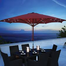 Patio Umbrella With Solar Lights by Blue Patio Umbrella With Lights Patio Decoration