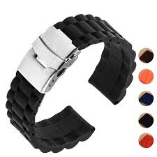 link bracelet watches images 5 colors 18mm 20mm 22mm 24mm universal watch band silicone rubber jpg