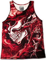designer tank tops unique skull rock n designer vest singlet