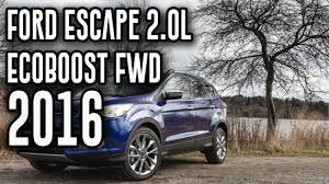 Ford Escape Generations - 2016 ford escape 2 0l ecoboost fwd 6 speed automatic review youtube