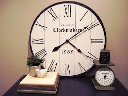 contemporary oversized wall clocks u2014 jen u0026 joes design buying